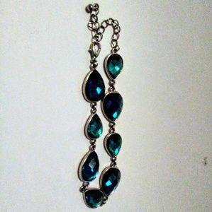Emerald Green Rhinestone Bracelet